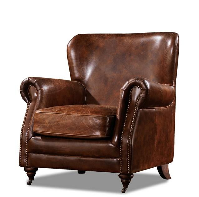 Bőr kárpitozású fotel, bútor.