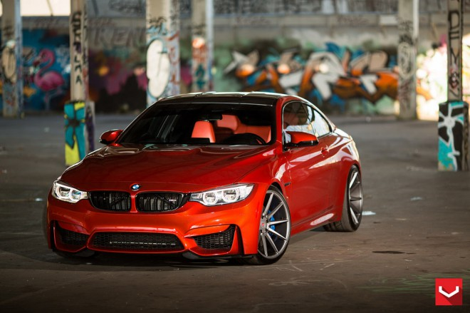 BMW M4, F82, vörös, piros