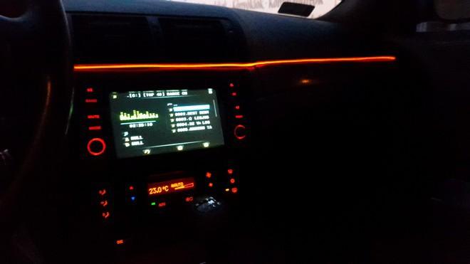 BMW E46 Coupe, beltér, navi